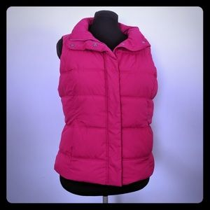 GAP Pink Puffer Vest with Pockets